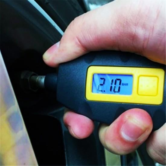 مقياس ضغط هواء إطار السيارة الرقمي