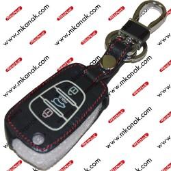 جراب جلد لريموت هيونداي بمدالية مفاتيح