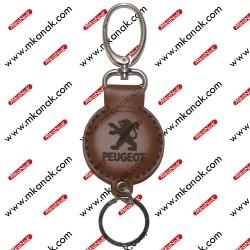 ميدالية مفاتيح جلد بلوجو بيجو
