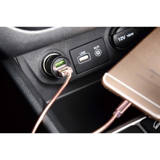 شاحن موبايل للسيارة ليدنيو 3.6 امبير معدني
